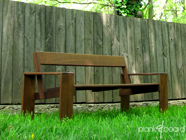 Outdoor Wood Bench furniture - atlanta, georgia contemporary outdoor ...